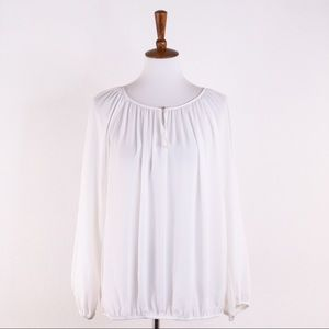 Vince Camuto Ivory Long Sleeve Blouse, XL NWT